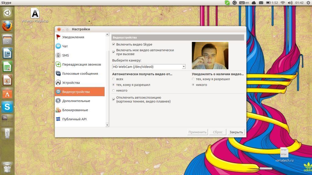 Веб камера Skype